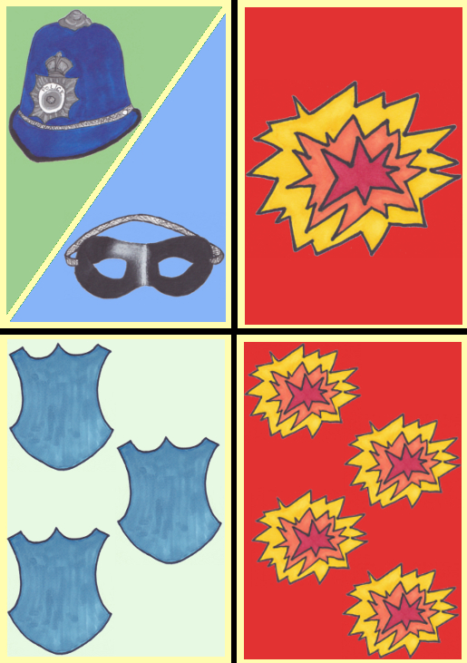 Cops and Robbers Example cards